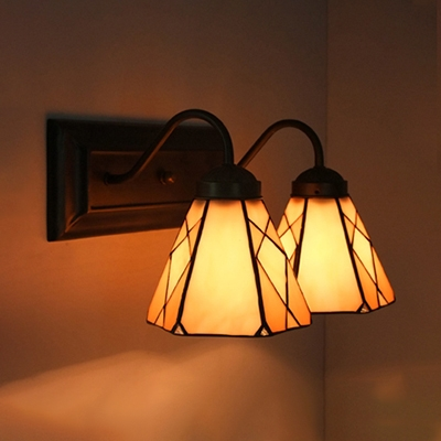 Traditional Conical Wall Light 2 Lights Metal Sconce Wall Lamp for Dining Room Shop