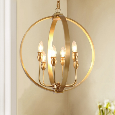 4 6 Lights Candle Chandelier With Globe