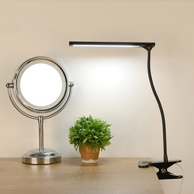 Eye Caring Energy Saving Desk Light USB Charging Port Black/Brown/Silver Reading Lighting with 3 Lights Choice