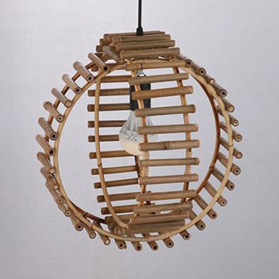 Global Shape Bedroom Ceiling Light Fixture One Light Country Style