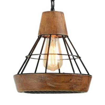 Metal Wired Hanging Pendant Light Kitchen 1 Light Industrial Farmhouse