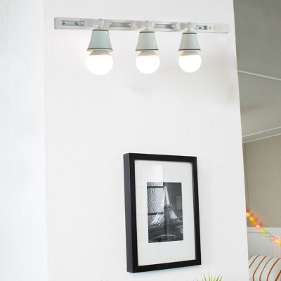 Simple Style Rotatable Track Light Ceramic 3/4 Lights White LED Spot Light in White/Warm for Kitchen