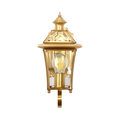 Stair Dining Room Sconce Light Metal Clear/Frosted Glass One Light