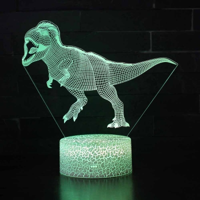 Velociraptor Pattern LED Night Light 7 Color Changing Touch Sensor Nursery Night Lamp for Boy Bedroom Gift