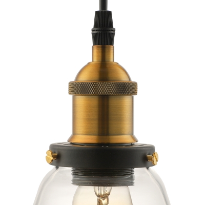 Vintage LED Mini-Pendant 1 Light with Clear Glass Bowl Shade