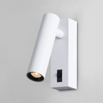 2 Packwhite Cylinder Led Wall Light Wireless Rotatable On Off Switch
