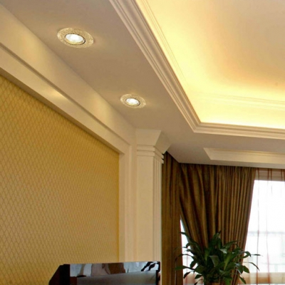 (4 Pack)3W 3-3.5 Inch Ceiling Light Recessed Antique Round Light Fixture Recessed in White/Warm for Hotel Bedroom