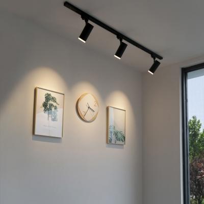 Black White Cylinder Ceiling Light 3