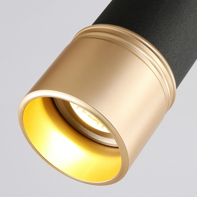 Contemporary Rotatable LED Track Lighting Cylinder 3 Lights Aluminum Spot Light for Cloth Shop