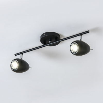 Modern 2/3 Heads Track Lighting Bedroom Dining Room Angle Adjustable Black/White LED Spot Light in Warm