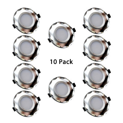(10 Pack)7W Crystal Ceiling Light Recessed Dining Room Hallway 2-3 Inch Nobel Style Flush Mount Recessed in Warm/White
