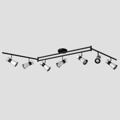 Dining Room 7 Heads LED Spot Light Angle Adjustable High Brightness Ceiling Fixture in Silver/Gold/White