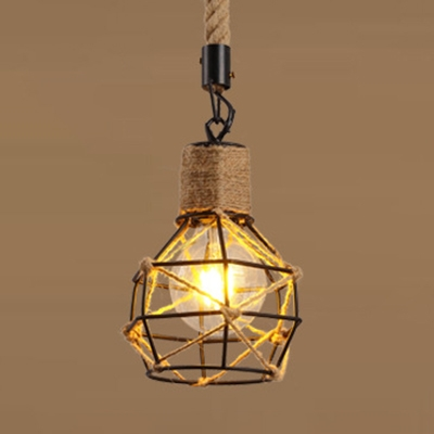 Rope Wire Cage Pendant Light Dining
