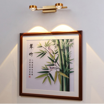 1/2/3 Lights Small Track Lighting Elegant Style Aluminum Wall Sconce in Gold for Gallery Shop