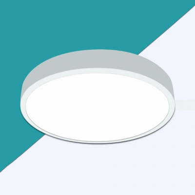 (4 Pack)16W 6 Inch LED Slim Panel Light Dining Room Shop Round Shape Ceiling Light Fixture in White/Warm