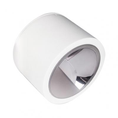 Black/White Drum Shape Light Fixture Aluminum Energy Saving LED Spot Light in White/Warm for Hallway