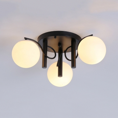Frosted Gl Globe Ceiling Light 3 5 9