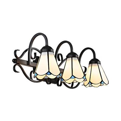 Verre Conique Applique 3 Lumières Américain Rustique Mur de la Lumière pour la salle de Bain Salle à Manger