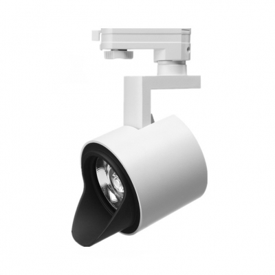 Rotatable Cylinder Track Lighting 1 Head Commercial Ceiling Lamp In White Warm White For Meeting Room Beautifulhalo Com