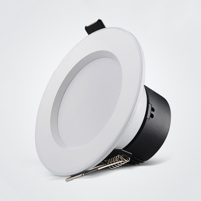 (10 Pack)3.5 Inch Wireless Recessed Light Meeting Room Office 7W Flush Mount Recessed in Warm White/White