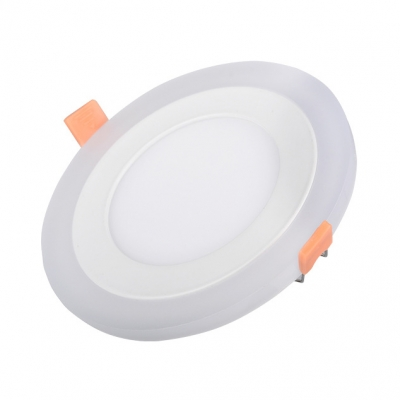 (10 Pack)16/24W LED Recessed Down Light 6/8 Inch Slim Panel Light in White/Neutral for Meeting Room Office