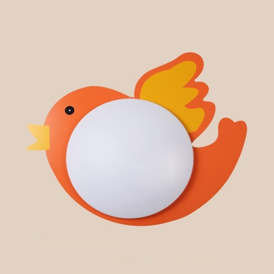 Cute Colorful Flush Mount Light with 6 Shape Choice Acrylic Ceiling Light for Boy Girl Bedroom