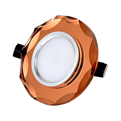 (10 Pack)Multi Color Option Circle Recessed Lighting with Crystal 5W 2-3 Inch Light Fixture Recessed for Living Room