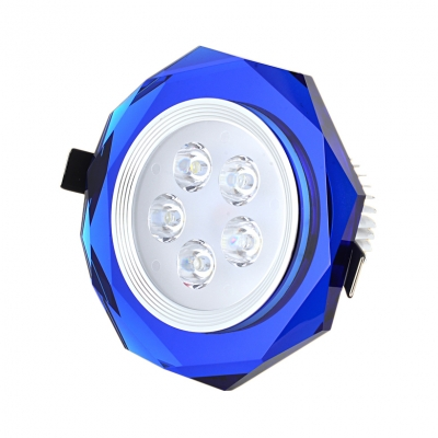 (10 Pack)Brown/Blue Crystal Ceiling Light Recessed Bedroom 2-3 Inch Elegant Recessed Down Light in White/Warm