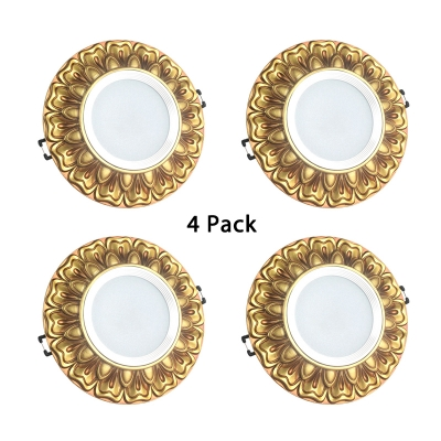 (4 Pack)3-5 Inch Elegant Recessed Light Wireless LED Ceiling Light Fixture in White/Warm for Dining Room Kitchen
