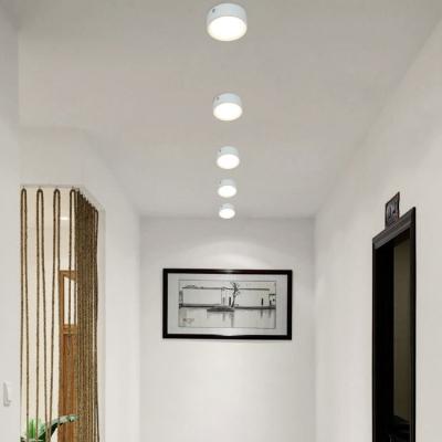 (10 Pack)7W Round LED Flush Mount Light Mall Meeting Room Aluminum Slim COB Spot Light with White Lighting