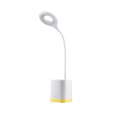 Pen Holder Design LED Study Light White/Yellow/Blue/Green USB Charging Port Desk Light with 3 Lighting Modes