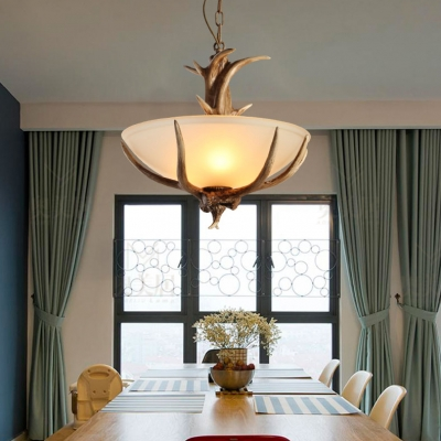 Resin And Gl Antlers Pendant Lighting Dining Room Living