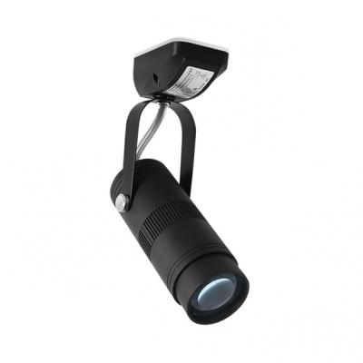 (2 Pack)Angle Adjustable LED Flush Mount Light Black/White Cylinder Aluminum Spot Light in White/Warm White for Shop