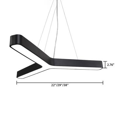 Cord Adjustable Low Glare 24W/30W/42W Cool White Light 6000K-6500K Modern Lighting in Black/Silver 11.81