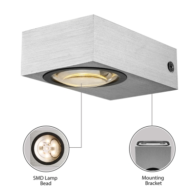 Outdoor Rectangular Wall Sconce LED, Up and Down Lighting