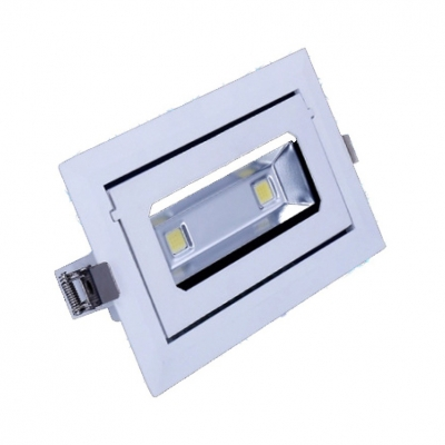 (6 Pack)Waterproof Rectangle Recessed Light 20/30W Aluminum Light Fixture Recessed in White/Warm White