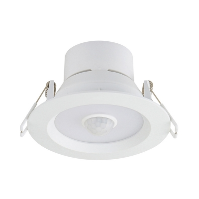 (4 Pack)10W Motion Sensor Light Fixture Recessed 10W 5 Inch Round Slim Panel Recessed Light in White/Warm
