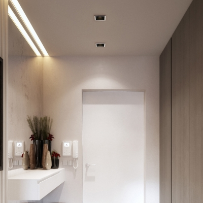 4 Pack 3 5 Inch Square Recessed Down Light Mall Bedroom 7w Wireless