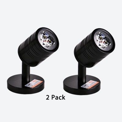 (2 Pack)Angle Adjustable COB Spot Light Black/White/Silver Cylinder Shape Ceiling Light in White/Warm White for Kitchen