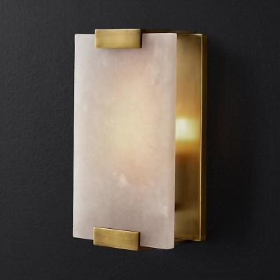 Metal And Marble Rectangle Wall Light Living Room Bathroom 1