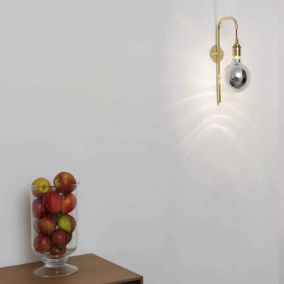 Modern Gold/Chrome Wall Lamp with Orb Shape Single Light Metal Wall Sconce for Bedroom Living Room