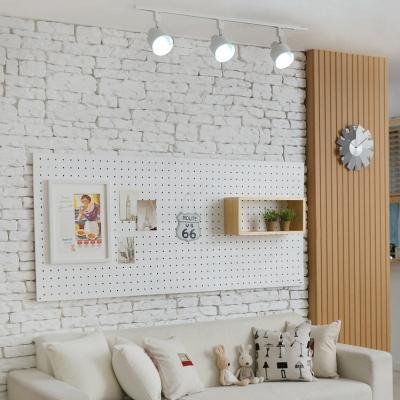 Simple Style Rotatable Track Lighting 3 Lights High Brightness LED Ceiling Mount Light in Black/White