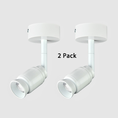 (2 Pack)White/Black Adjustable Flush Mount Light Office Restaurant High Brightness LED Spot Light in White/Warm White
