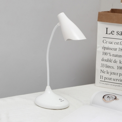 Bell Shape Touch Control Desk Lamp Gooseneck White/Blue/Pink/Green LED Study Light with USB Charging Port