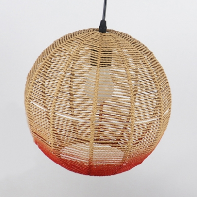 Blue/Red Globe Pendant Light Fixture Contemporary Single Head Suspension light, 12