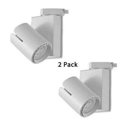 2 Pack Cylinder Small Cob Ceiling Light 1 Head White Black Track
