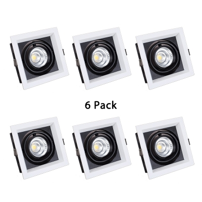 (6 Pack)Square Wireless Light Fixture Recessed 18/30W LED Recessed Light for Hallway Bedroom in White/Warm White