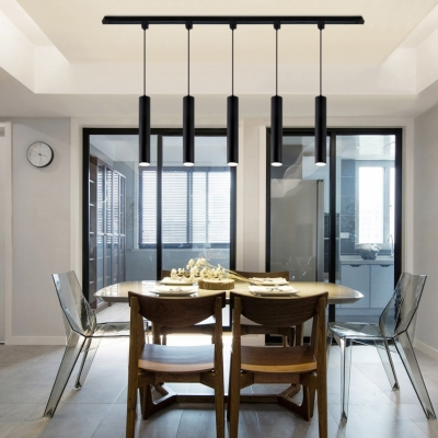 Dining Room Led Track Light Aluminum 3 4 5 Lights Modern Pendant