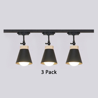 3 Pack Contemporary Rotatable Tapered Led Ceiling Light 1
