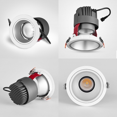 (6 Pack)15/20W LED Recessed Down Light Wireless Circle COB Ceiling Light Recessed in Neutral for Kitchen Dining Room